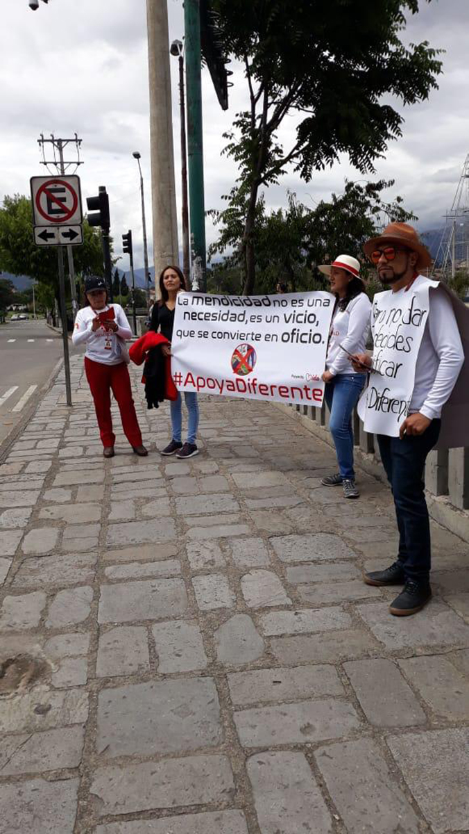 Piden no dar plata en calles