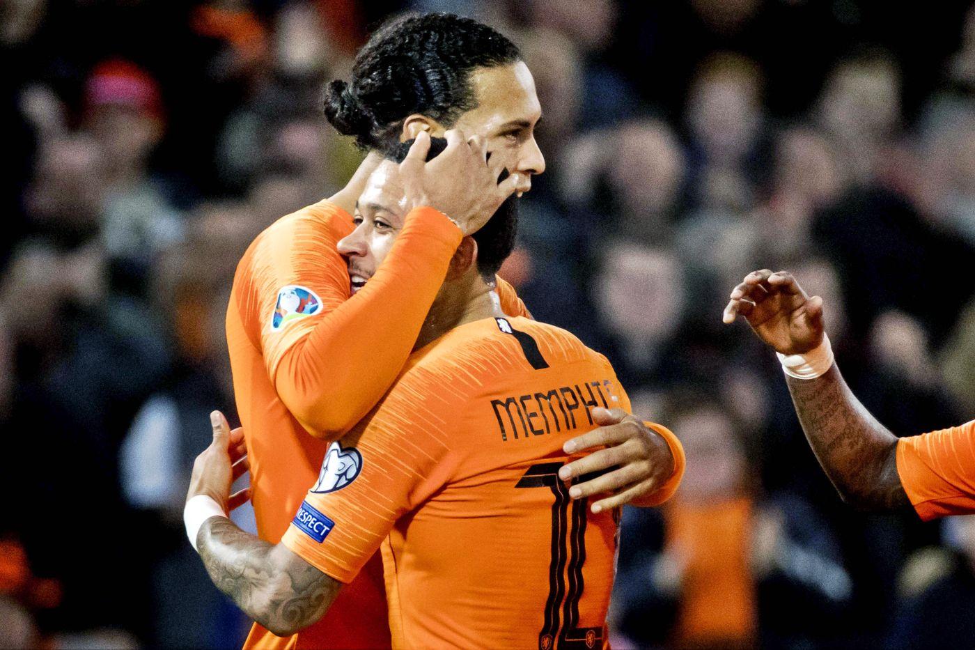 Buen debut de Holanda y Bélgica en clasificación de la Eurocopa