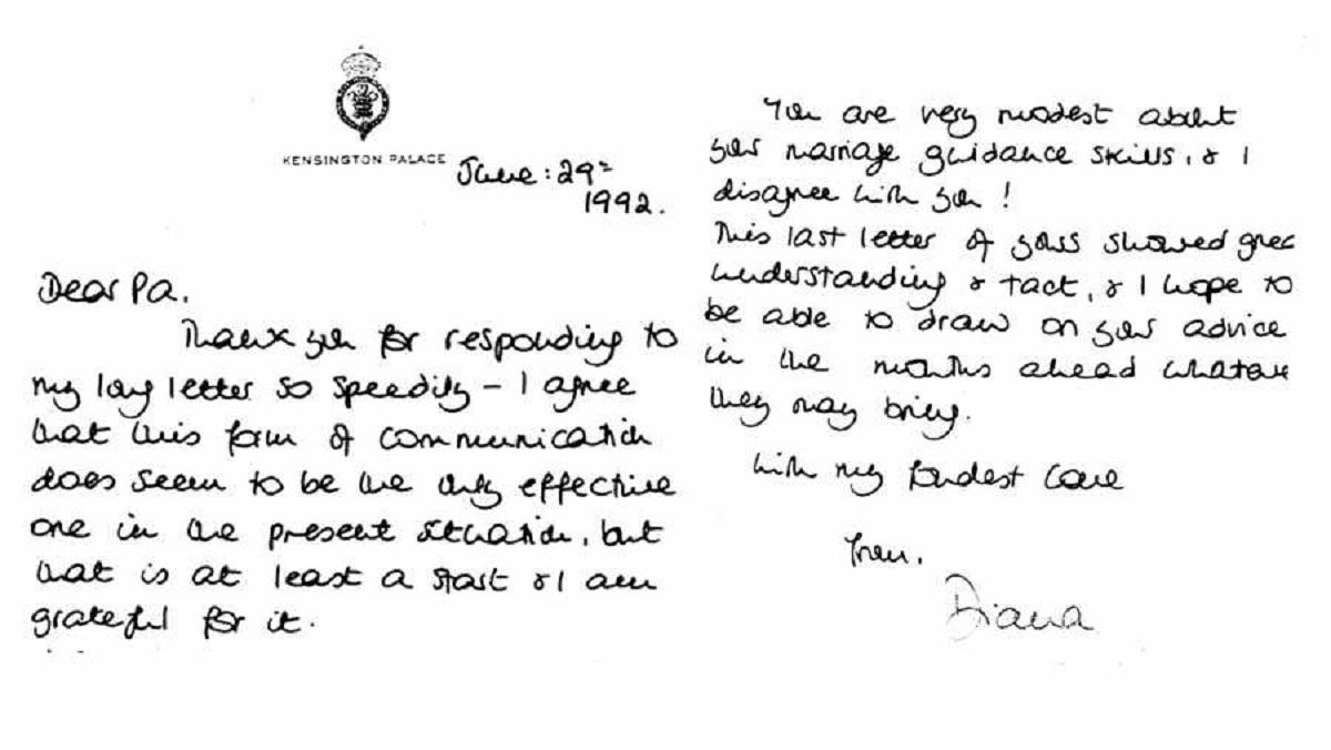 cartas de Lady Diana