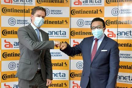 Grupo Continental y Aneta firmaron  convenio por la educación vial del Ecuador